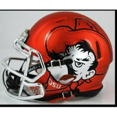Oklahoma State Replica Speed Mini Helmet - Pistol Pete, The ultimate NCAA College mini speed football helmet collectible By Riddell