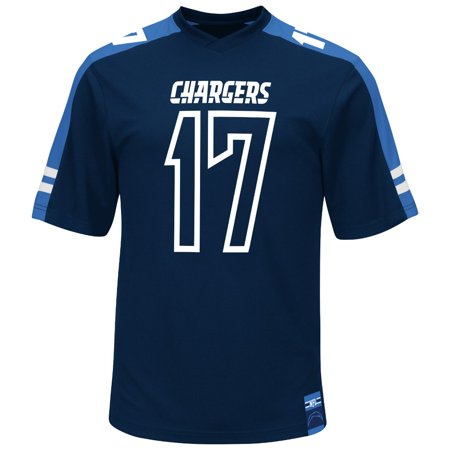 "Philip Rivers San Diego Chargers Majestic NFL ""Hashmark"" Jersey Shirt by"
