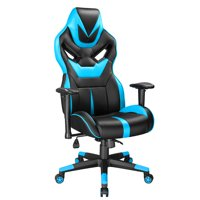 Gaming Chair Ergonomic High-Back Racing Chair Pu Leather Bucket Seat,Computer Swivel Office Chair PC Computer Desk Office Chair, Premium PU leather, 360°Swivel Chair with 90- 135°Tilt