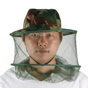 Fishing Breathable Mesh Anti Mosquito Camouflage Print Hat Cap
