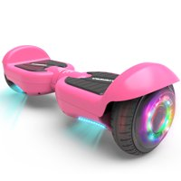 "Hoverboard 6.5"" UL 2272 Listed Two-Wheel Self Balancing Electric Scooter with LED Light Pink"