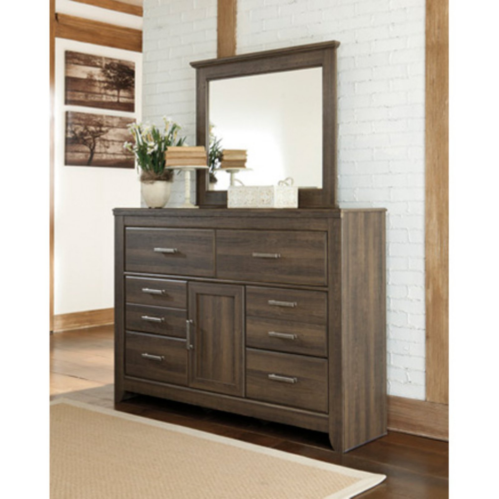 Signature Design by Ashley Juararo 6 Drawer Dresser with Optional Mirror