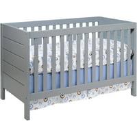 Baby Mod Modena 3-in-1 Convertible Crib Gray