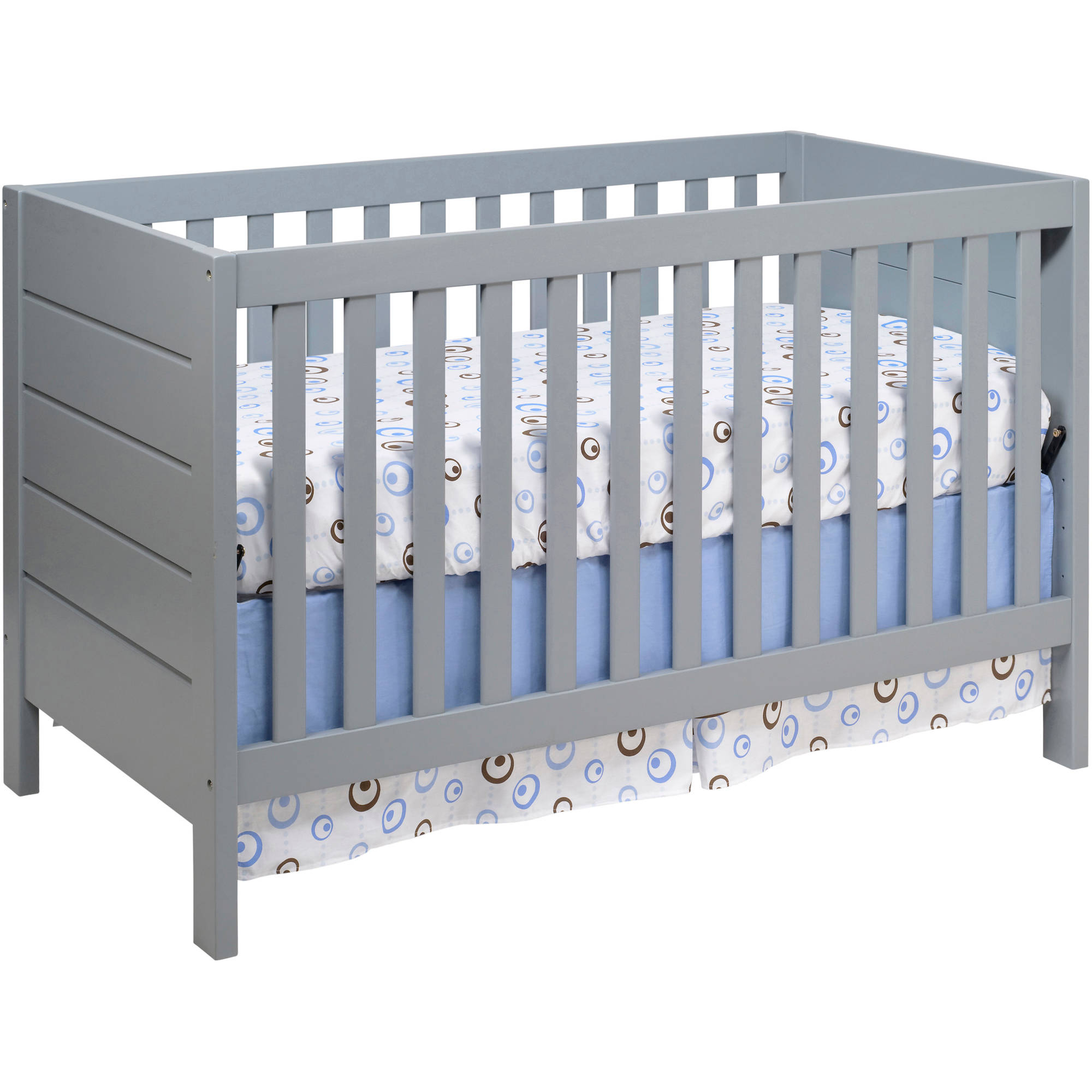 Baby Mod Modena 3-in-1 Convertible Crib Gray