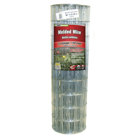 YARDGARD 36 Inch by 50 Foot Galvanized Welded Wire Fence - Galvanized Steel Fencing