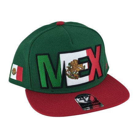 47  Brand Intercept Mexico Captain Snapback Hat Cap - Green Red -  Walmart.com 8c210d4f771