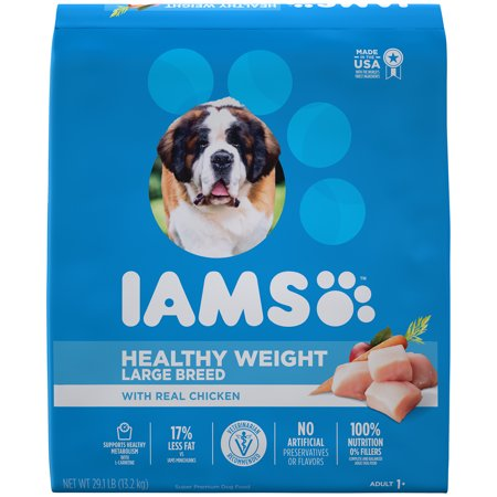 IAMS PROACTIVE HEALTH Large Breed Adult Healthy Weight Dry Dog Food Chicken, 29.1 lb.