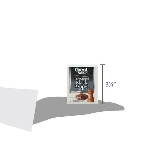 Great Value Pure Ground Black Pepper, 3 oz - Walmart com