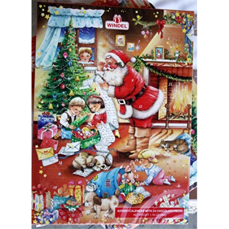 Advent Christmas Calendar / 24 Chocolate Pieces Countdown Calendar ...