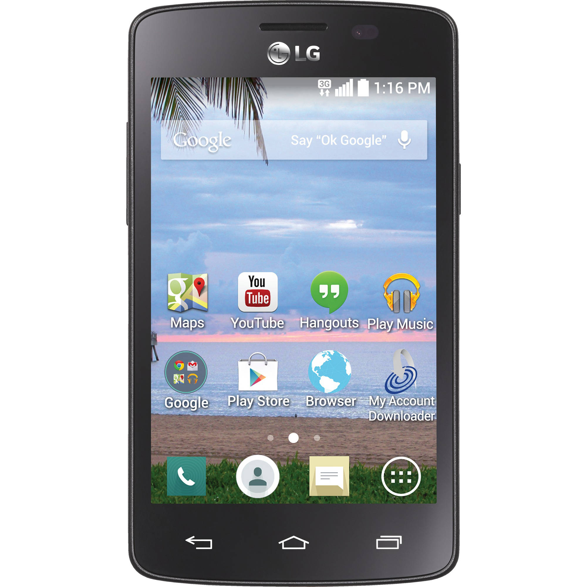 Refurbished Straight Talk LG Lucky L16C 3G Prepaid Smarthphone, Includes a $45/30 Day Plan