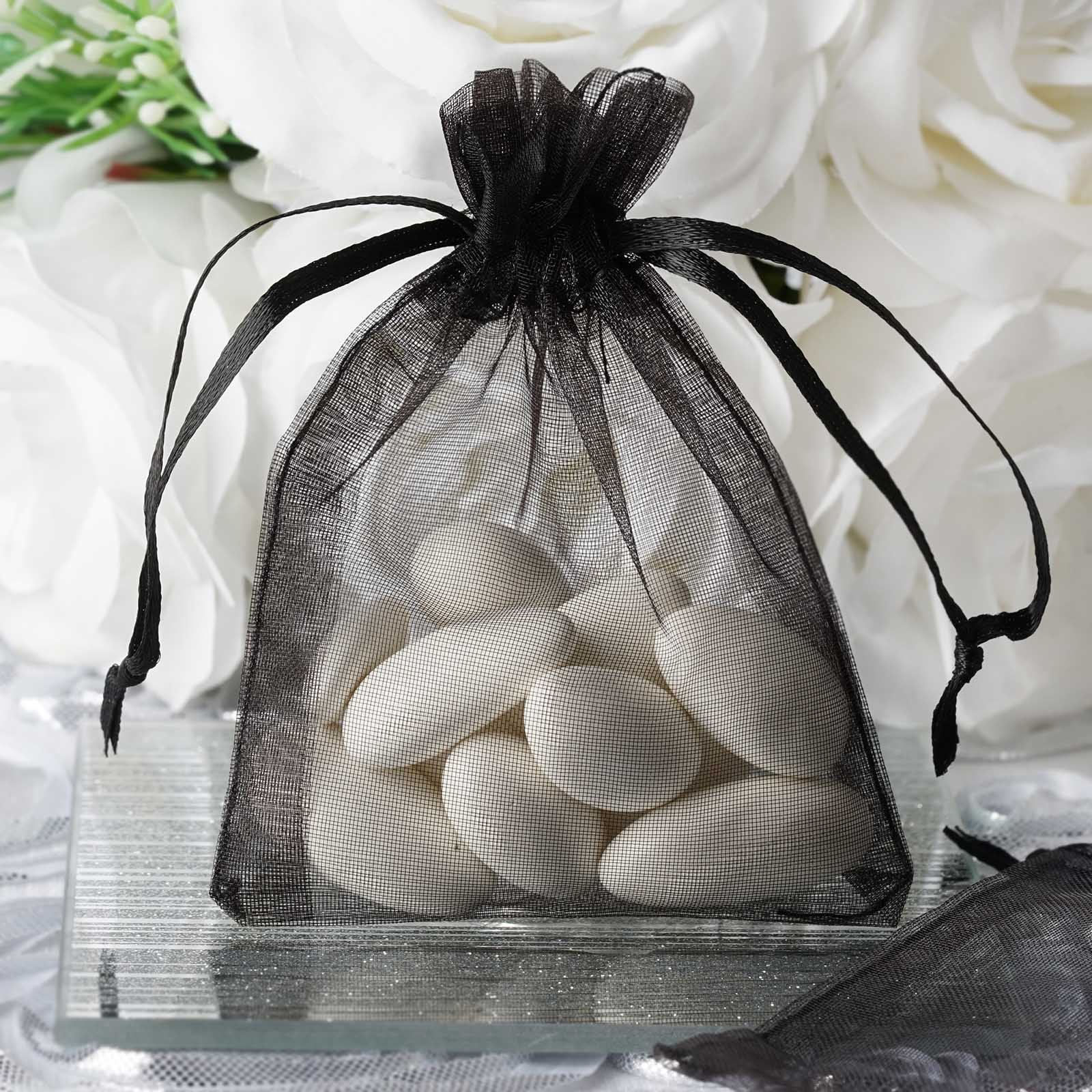 """Efavormart 50PCS Organza Gift Bag Drawstring Pouch for Wedding Party Favor Jewelry Candy Sheer Organza Bags - 3""""x4"""""""