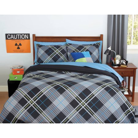 your zone boy plaid bedding comforter set