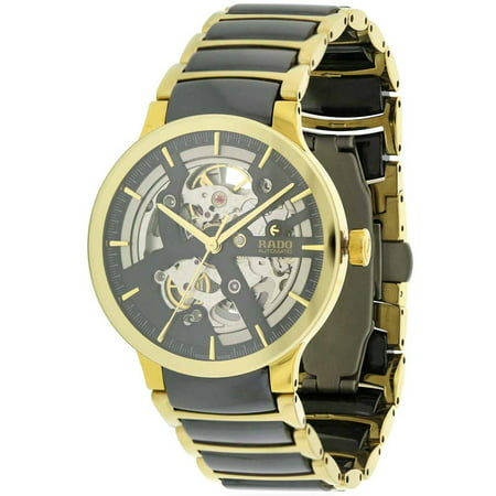 Centrix Gold-Tone Steel and Ceramic Automatic Men's Watch, R30180162 ()
