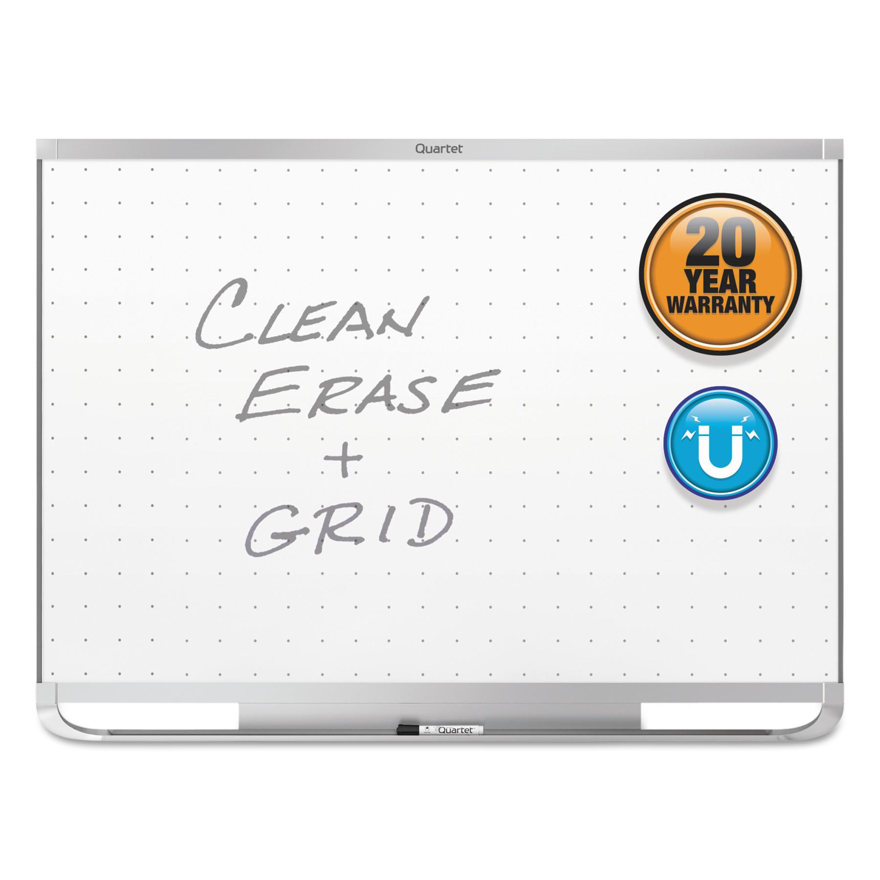 Quartet Prestige 2 Magnetic Total Erase Whiteboard, 48 x 36, Aluminum Frame -QRTTEM544A