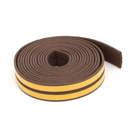 2.5M 8.2 Feet EPDM Foam Rubber Self Adhesive Weatherstrip Seal Strip Brown (Epdm Rubber Seal)