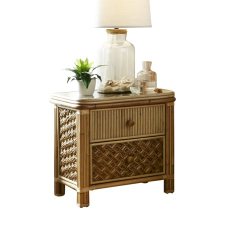 Spice Islands Wicker Mandalay 2 Drawer Nightstand