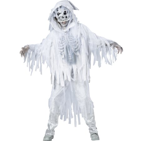 Haunting Spirit White Skeleton Ghost Ghoul Boys Child Halloween Costume](Halloween Means Ghosts Goblins)