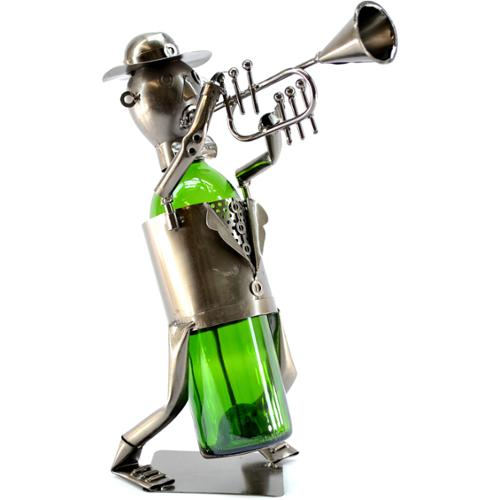 3starimex Wine Caddy Trumpet Player Wine Bottle Holder
