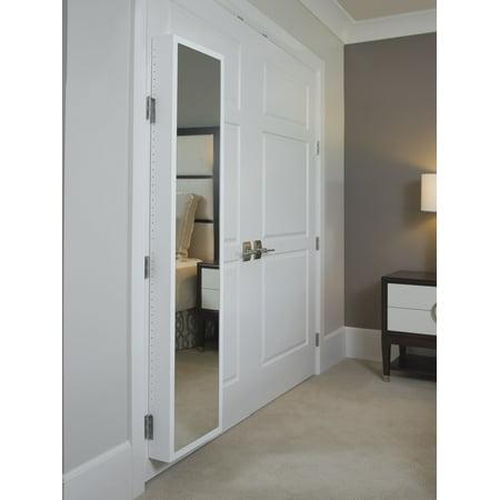 Cabidor Deluxe Mirrored Behind The Door Concealed Storage Cabinet