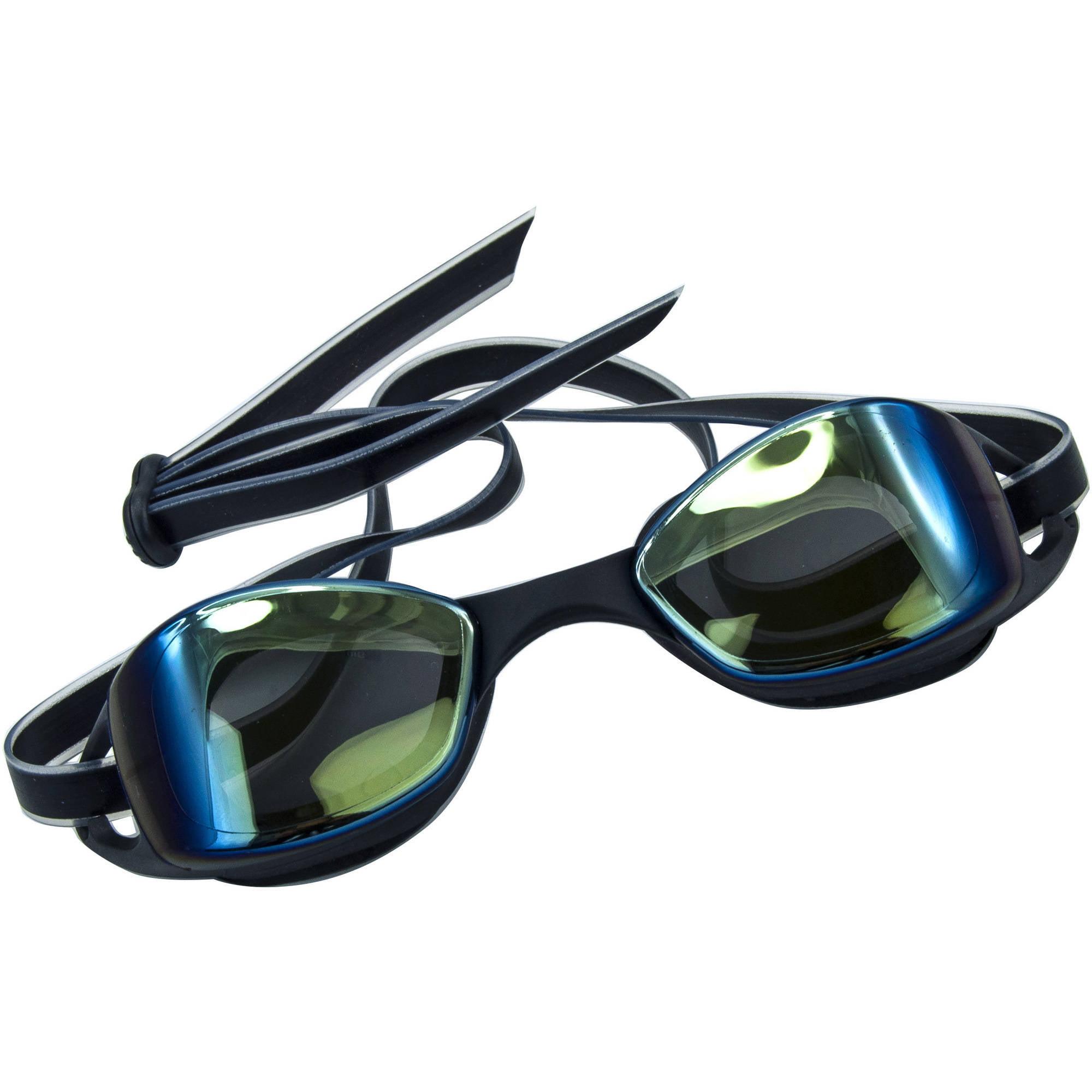 Dolfino Adult Pulse Swim Goggles with Mirrored Lenses, Anti-Fog and UV Protection