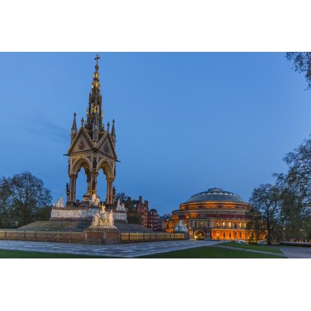 The Albert Memorial in Front of the Royal Albert Hall, London, England, United Kingdom, Europe Print Wall Art By Michael Nolan
