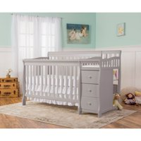 Dream On Me Brody 5-in-1 Convertible Crib with Changer, Pearl Gray