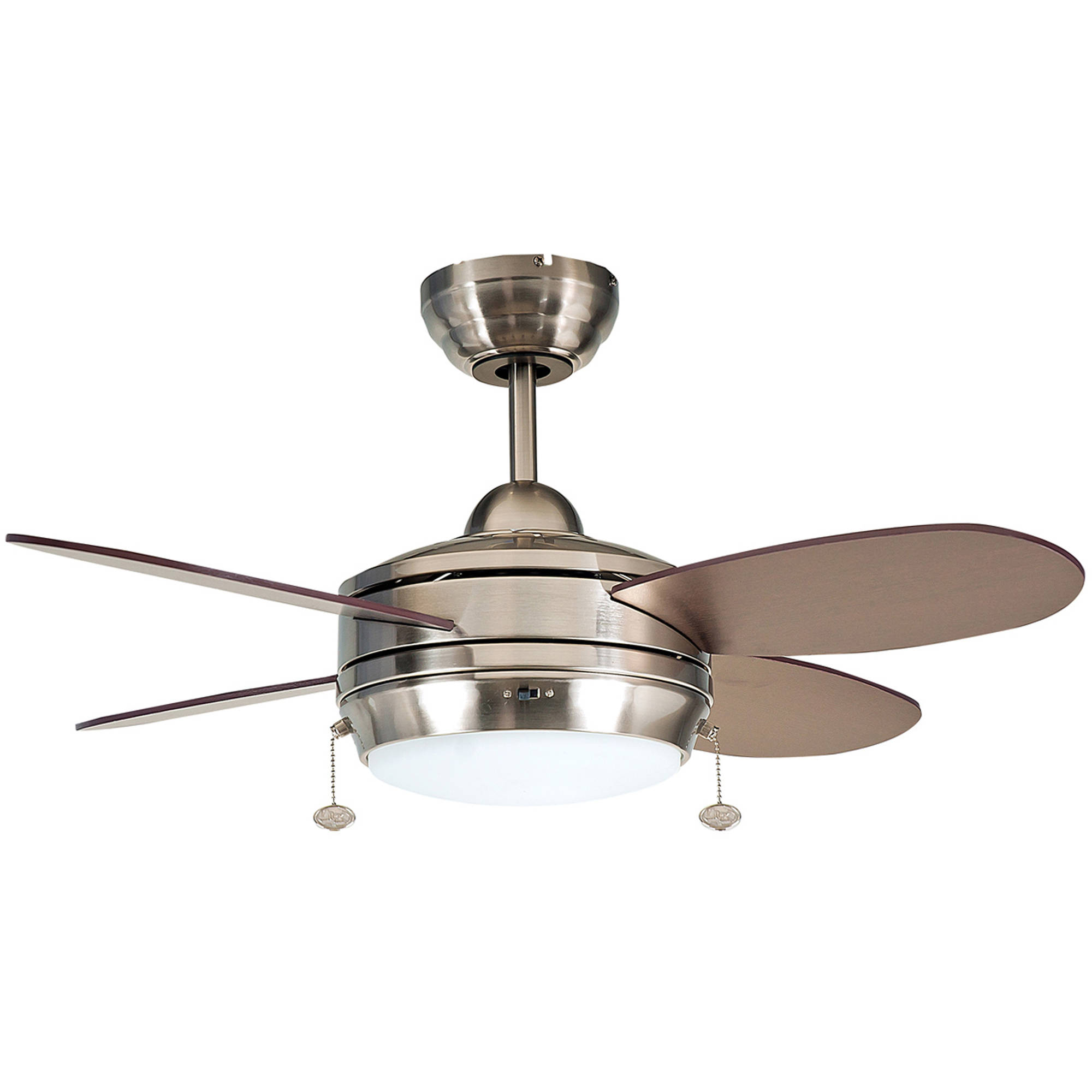 "Litex Industries Maksim 36"" Dual Mount Ceiling Fan Brushed Nickel"