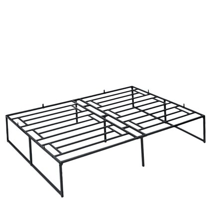 Insma 14 Heavy Duty Metal Bed Frame No, Metal Bed Frame Queen Size With Vintage Headboard And Footboard Platform Base Wr