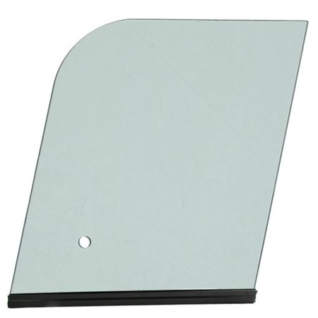 Cab Glass - Side Sliding Window with Channel, Tinted, LH, New, Bobcat, 7266740