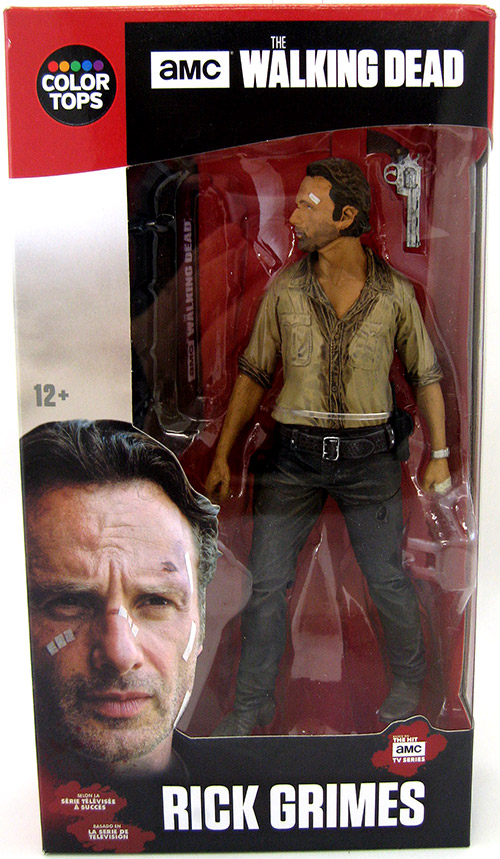 "Mcfarlane Walking Dead tv series 7/"" scale Rick Red color tops box in stock #1"