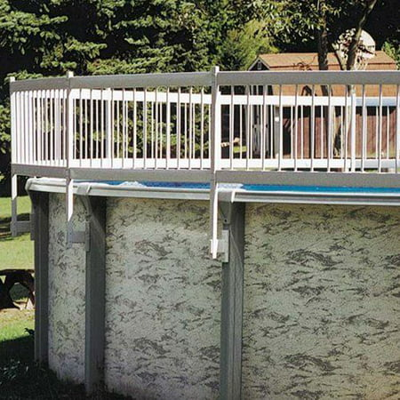 GLI Pool 30-AKIT-WHT Protech-A-Above Ground Fence 8 Section Base Kit Pool Fence Base