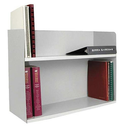 BUDDY PRODUCTS 1221-32 Book Rack, 2 Comp, Platinum, Steel