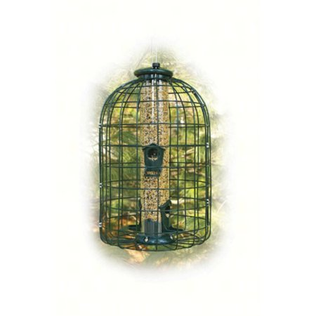 Wood Link Squirrel Caged Seed Tube Feeder