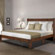 GranRest 12 inch Classic Solid Wood Platform Bed with Headboard, Full