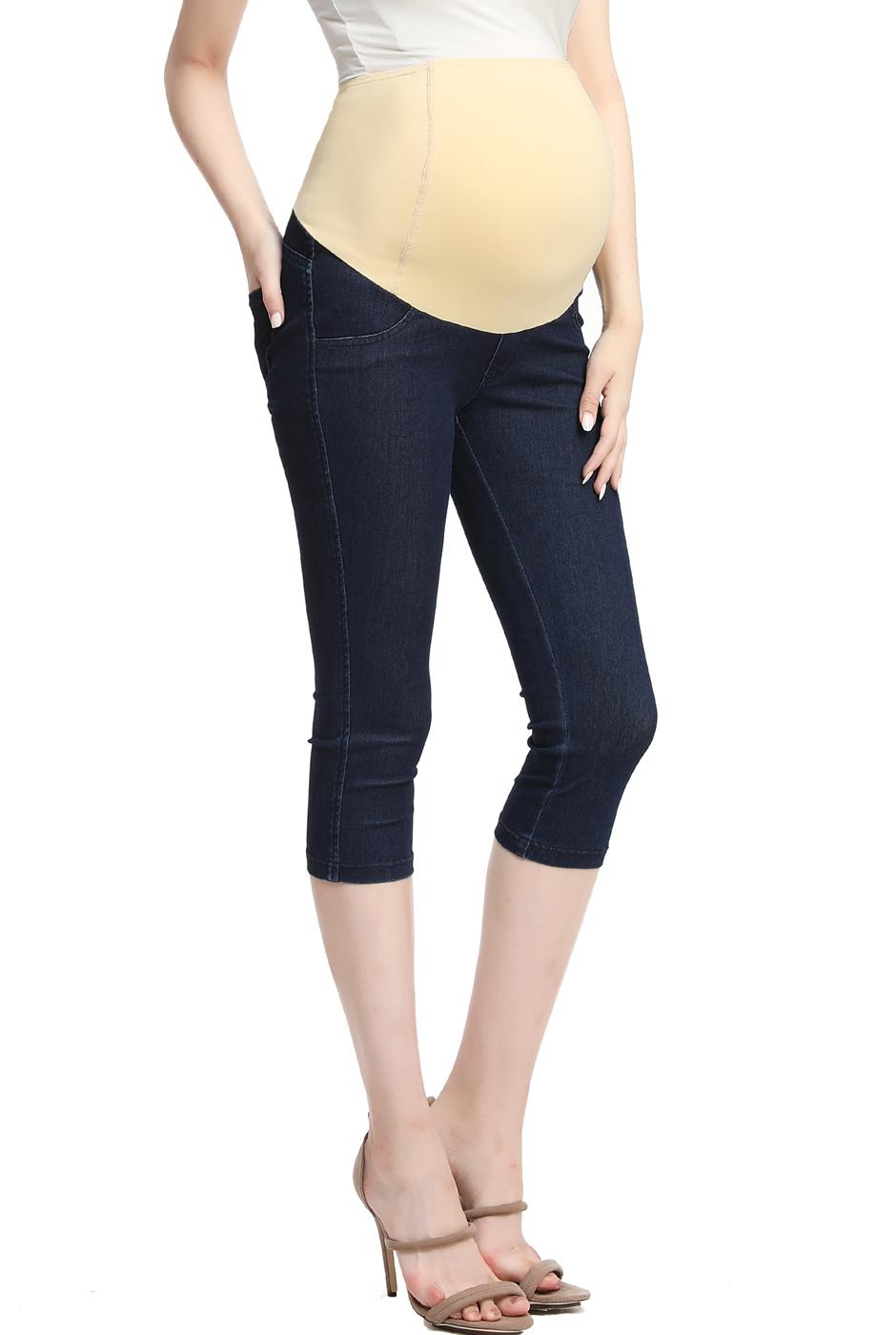 Maternity Women's Capri Jeggings - Denim Blue XS