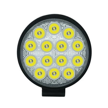1pcs 42w Round LED Spot Light Off Road Lighting DC 9-30v Off Road 4x4 Quad ATV UTV Side by Side Bowfishing Boat Airboat Lighting 8degree Spot Beam thumbnail