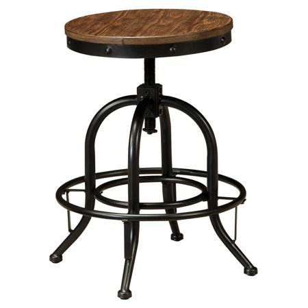 Outstanding Signature Design By Ashley Pinnadel Wood Backless Counter Height Stools Set Of 2 Machost Co Dining Chair Design Ideas Machostcouk