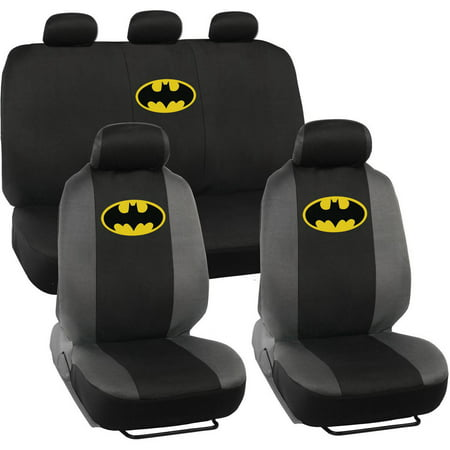 batman original seat covers for car and suv auto interior gift full set warner brothers. Black Bedroom Furniture Sets. Home Design Ideas