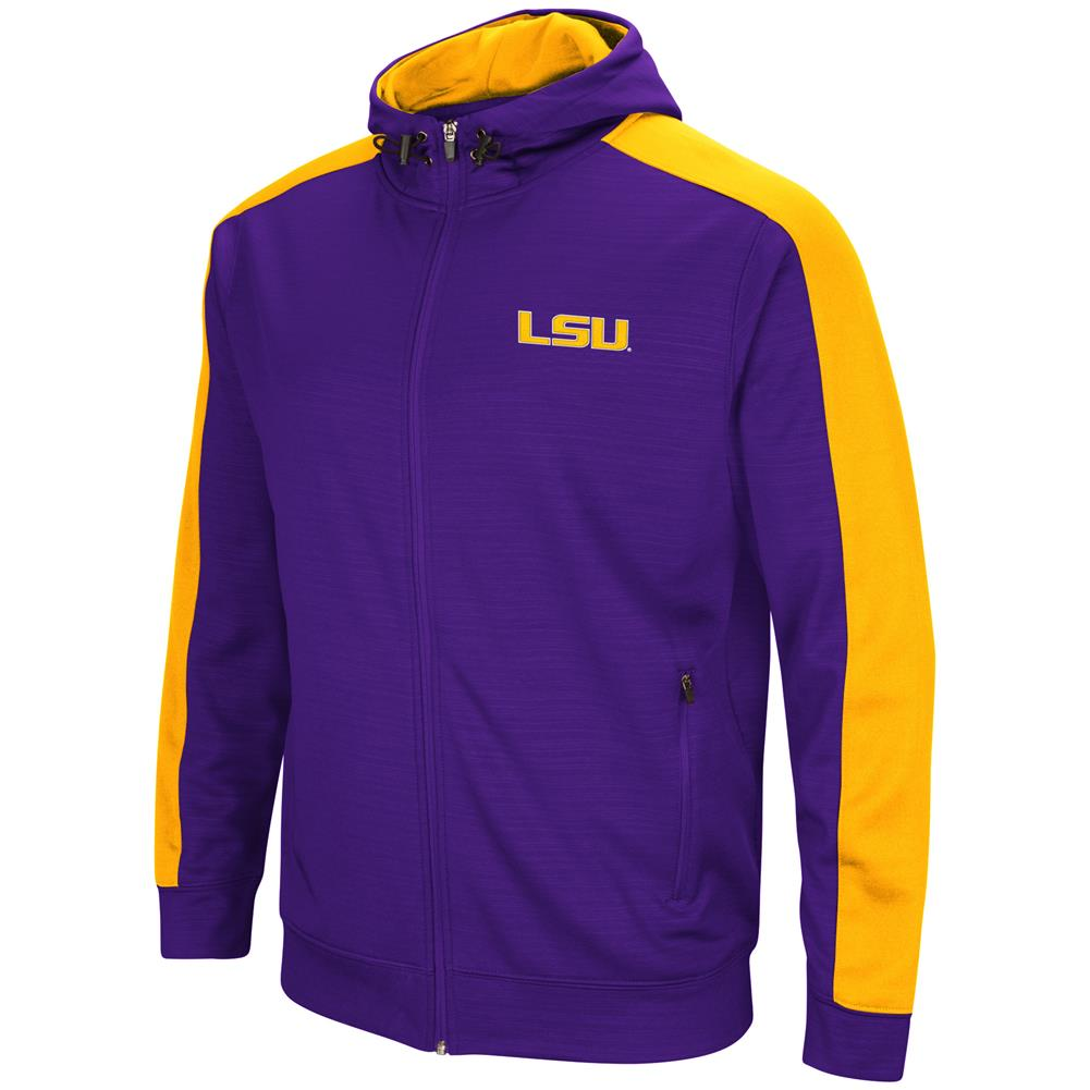 LSU Tigers Louisiana State Performance Fleece Jacket Full Zip Hoodie by Colosseum