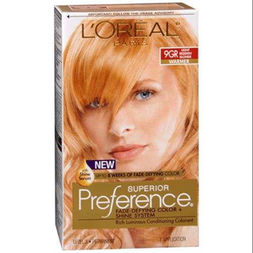 L'Oreal Superior Preference - 9GR Light Reddish Blonde (Warmer) 1 Each (Pack of 4)