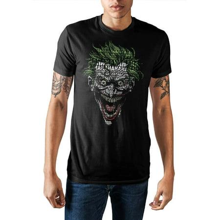 DC Comics Joker Shirt HAHAHA Face Text Fill Men's