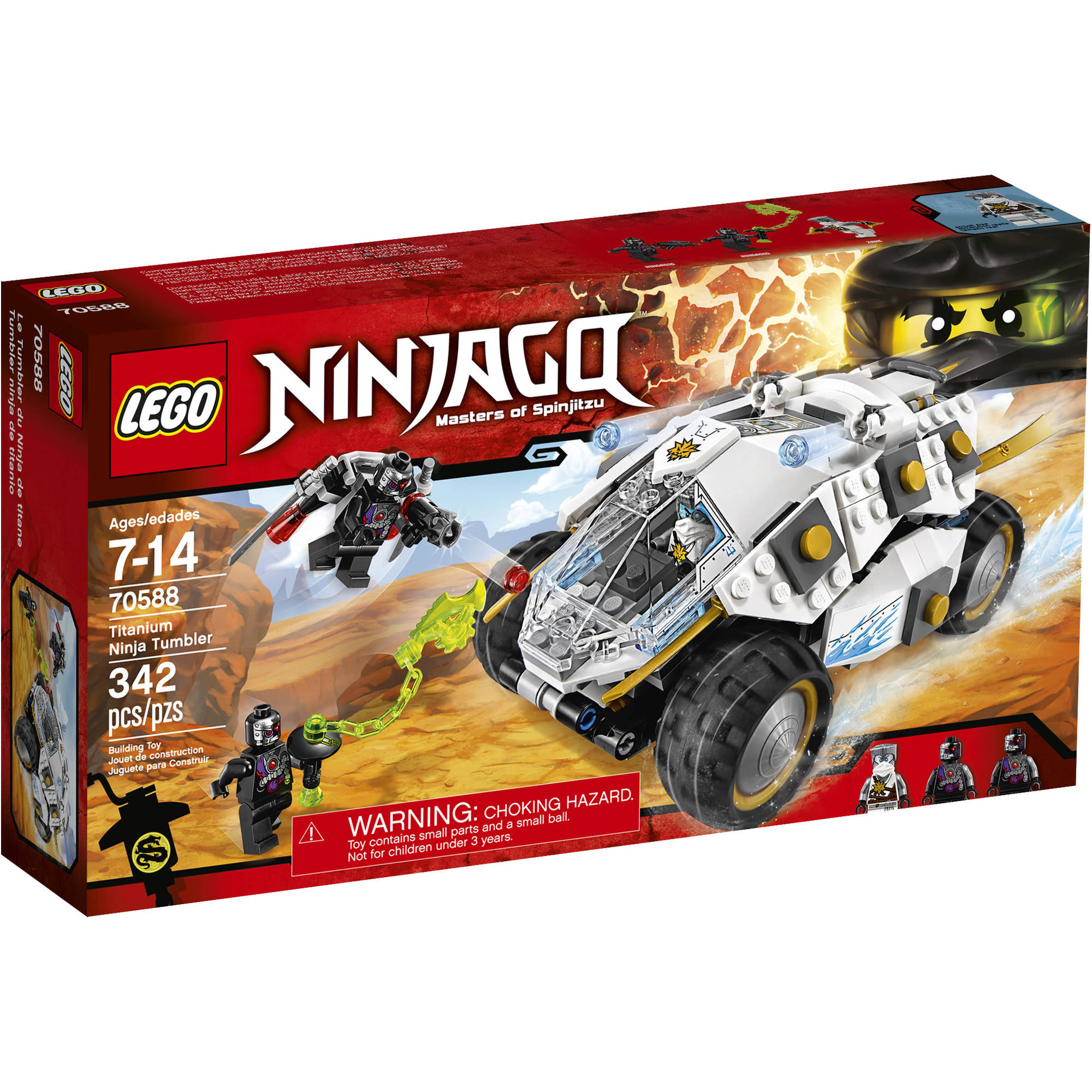 LEGO NINJAGO Titanium Ninja Tumbler 70588 - Walmart.com