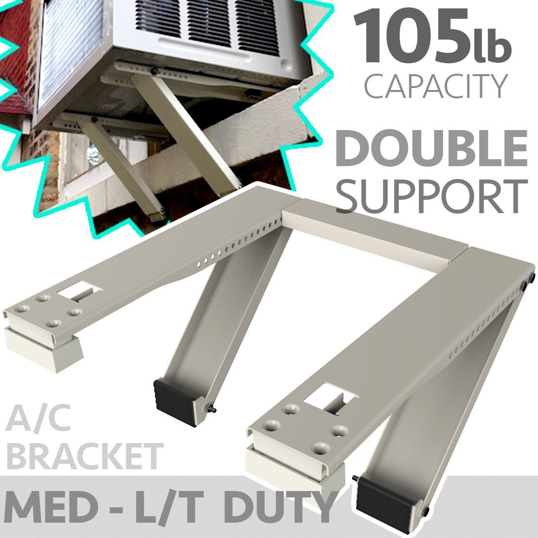 Universal Window AC Support - Air Conditioner Bracket - Support Air Conditioner Up to 105 lbs. - For 5000 BTU AC to 12000 BTU AC Units