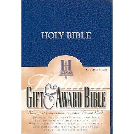 KJV Gift & Award Bible, Blue Imitation Leather
