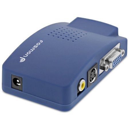 Fosmon Laptop PC To TV Converter Box Compatible With Windows And Mac (Vga To Rca / Vga To S-Video)