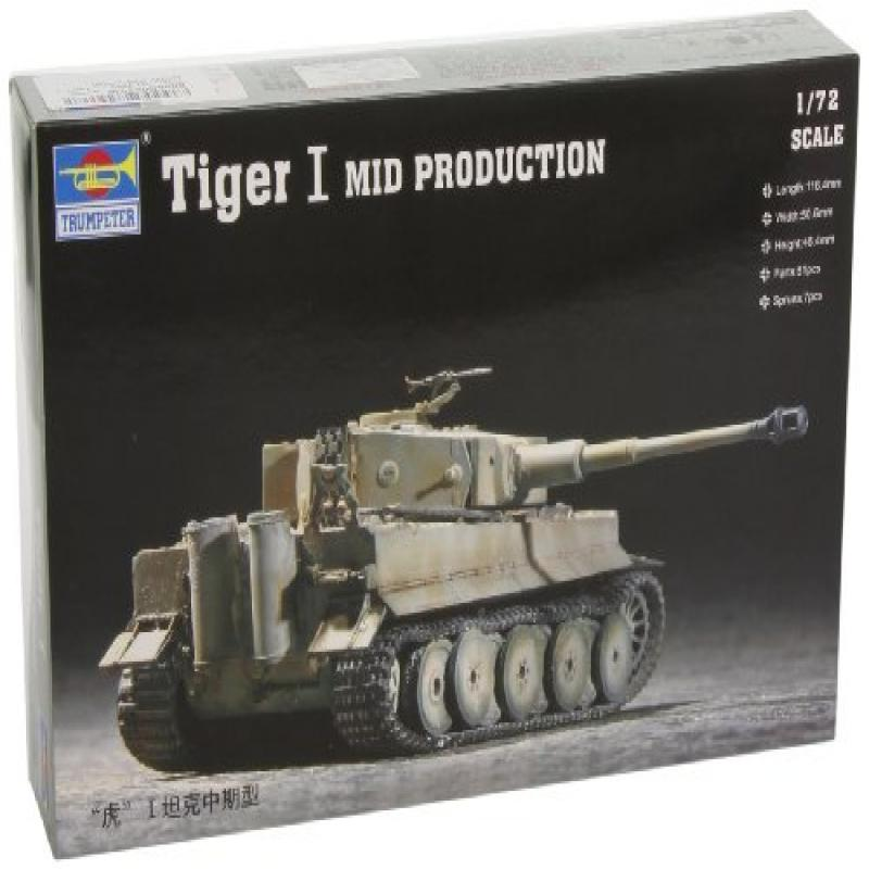 Trumpeter 1/72 German Tiger I Tank Mid Production