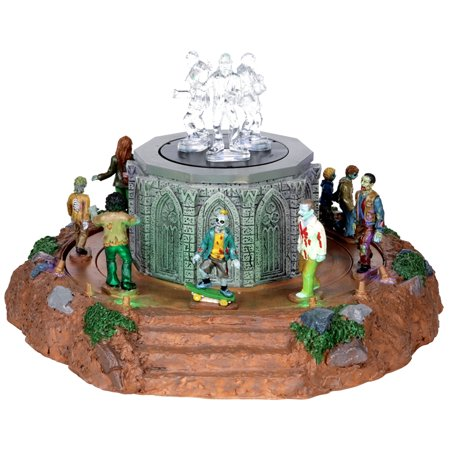 Lemax 04171 ZOMBIE MARCH Spooky Town Table Accent Animated Scary Decor
