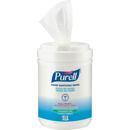 Purell Cleanser (PURELL®, GOJ903106, Alcohol Hand Sanitizing Wipes, 1 Each, White)