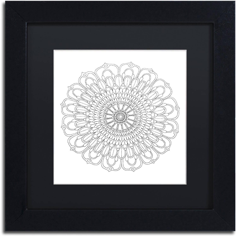 Trademark Fine Art 'Big Beautiful Blossoms 29' Canvas Art by Hello Angel Black Matte, Black Frame