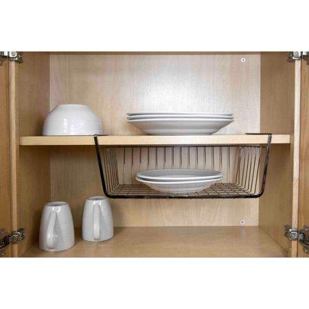 home basics large under shelf basket. Black Bedroom Furniture Sets. Home Design Ideas